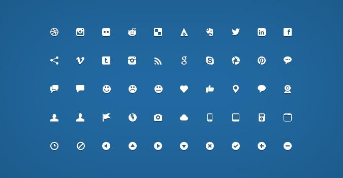 Набор из 200 векторных иконок для сайта (PSD)