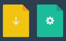 Иконки файлов в плоском стиле (PSD)