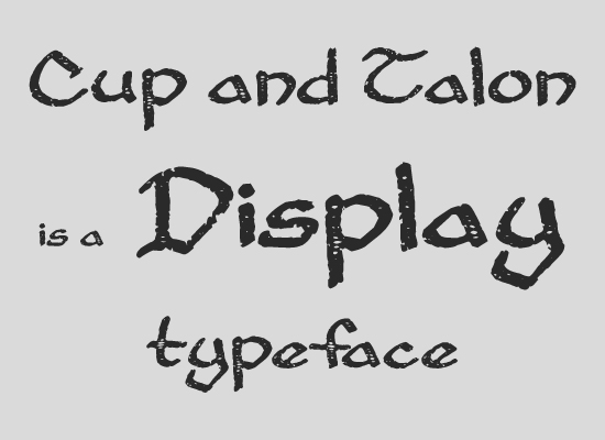Акцидентные шрифты (Display)