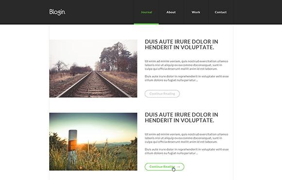 PSD-шаблон Blogin
