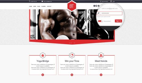 PSD-шаблон BridgeTech-Fitness