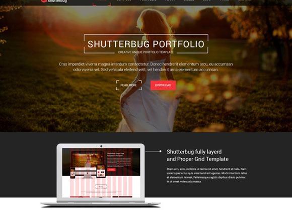 PSD-шаблон Shutterbug