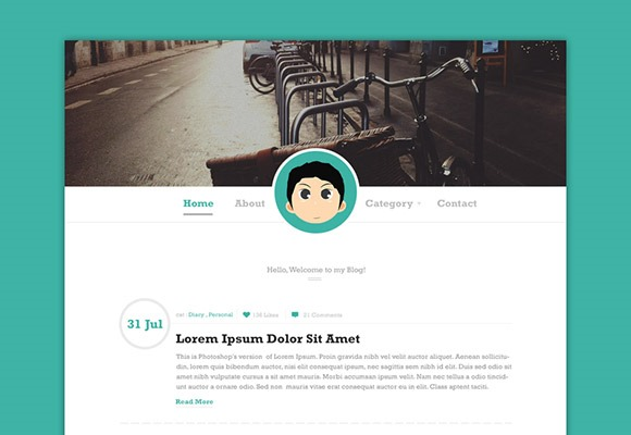 PSD-шаблон Simple-blog