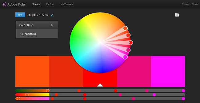 Окно Adobe Kuler