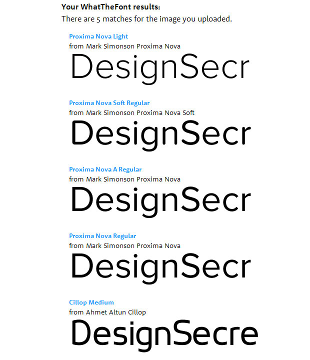 Сервис определил шрифты по картинке