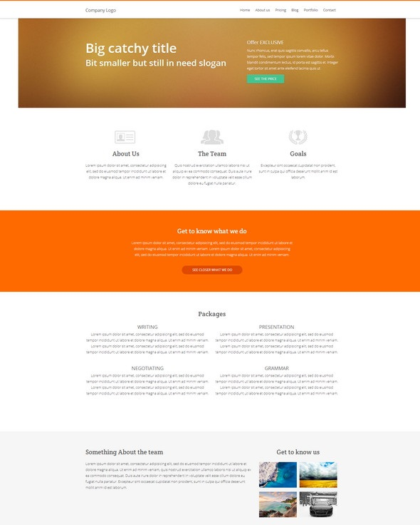Адаптивный шаблон сайта на HTML5, CCS3, JQuery