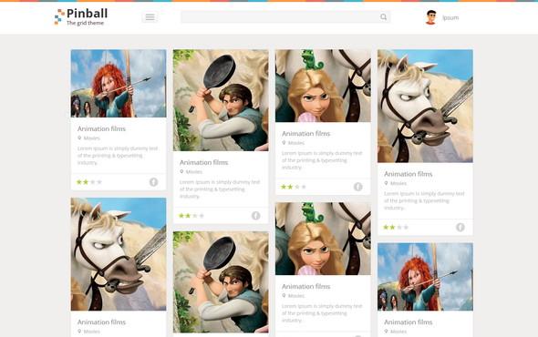 Pinball - адаптивный шаблон блога