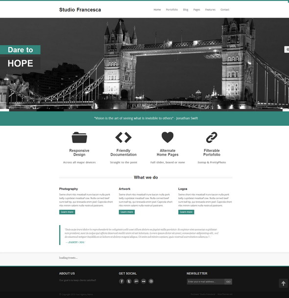 Studio Francesca - адаптивный шаблон сайта