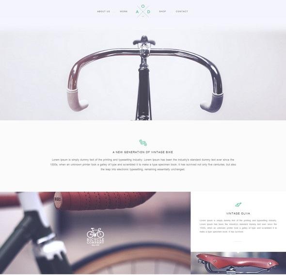 Yebo - HTML/CSS шаблон сайта в плоском стиле