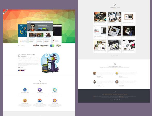 Drifolio – бесплатный html-шаблон портфолио