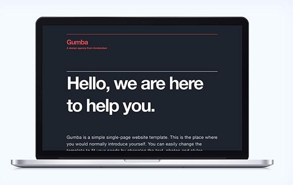 Gumba – минималистический HTML5/CSS3 шаблон портфолио
