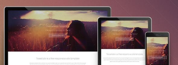 Tesselatte - бесплатный адаптивный шаблон сайта