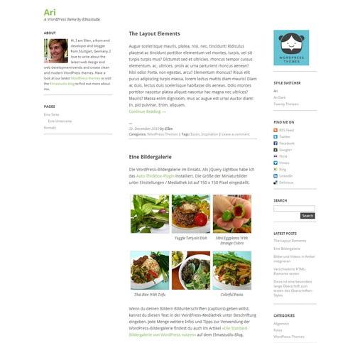 Ari - шаблон для блога