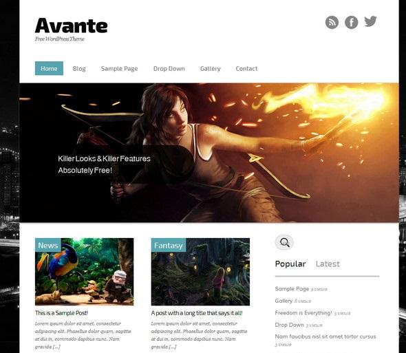 Avante - бесплатный шаблон для WordPress