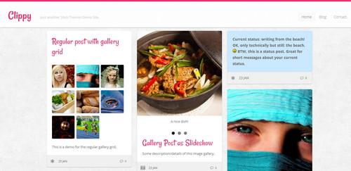 Clippy - стильный шаблон для персонального блога