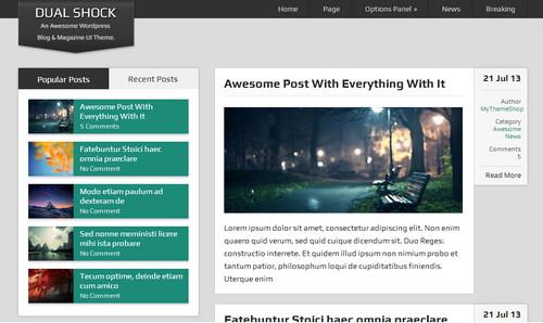 DualShock - интересный шаблон для персонального блога на WordPress