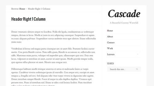 Cascade - стильный шаблон для WordPress