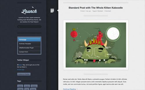 Launch - современный шаблон для персонального блога