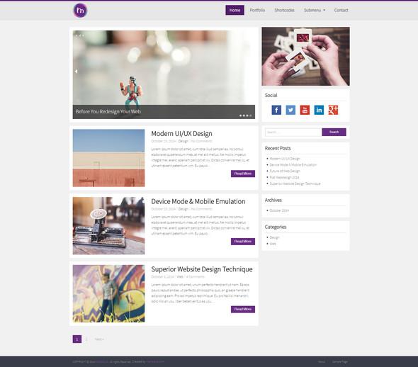 MioMio - шаблон персонального блога
