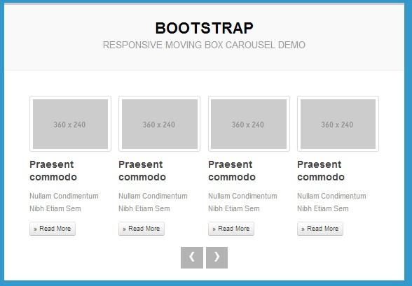 Карусель контента на Bootstrap