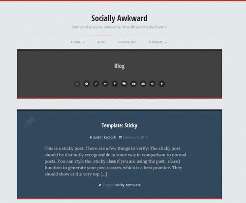 Socially Awkward - шаблон для персонального блога