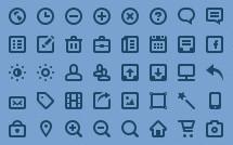 50 мини иконок для сайта (PSD)