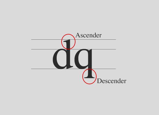 Ascender и Descender