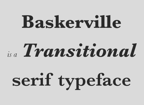 Transitional serifs (Переходная антиква)