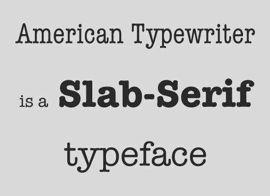 Slab serifs (Брусковые шрифты)
