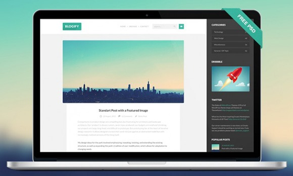 PSD-шаблон Blogify