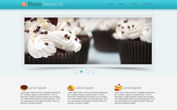 PSD-шаблон Bloom Desserts
