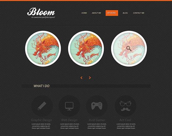 PSD-шаблон Bloom-Portfolio