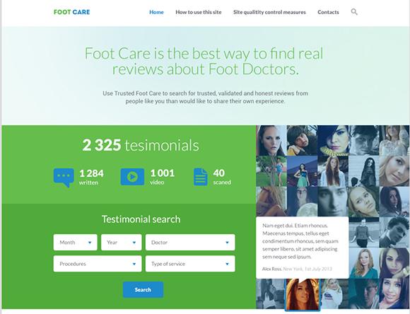 PSD-шаблон Foot-Care