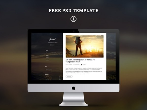 PSD-шаблон Journal