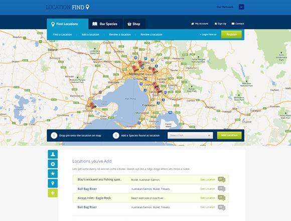 PSD-шаблон Location-Find