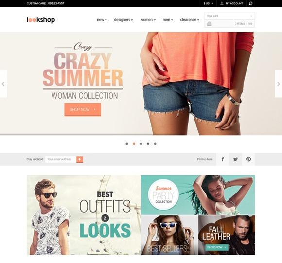 PSD-шаблон LookShop