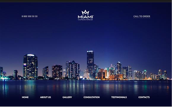 PSD-шаблон Miami