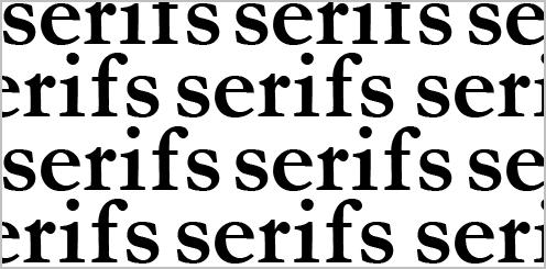Используйте шрифт с засечками для больших текстов