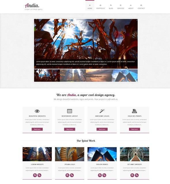 Andia - бесплатный шаблон сайта