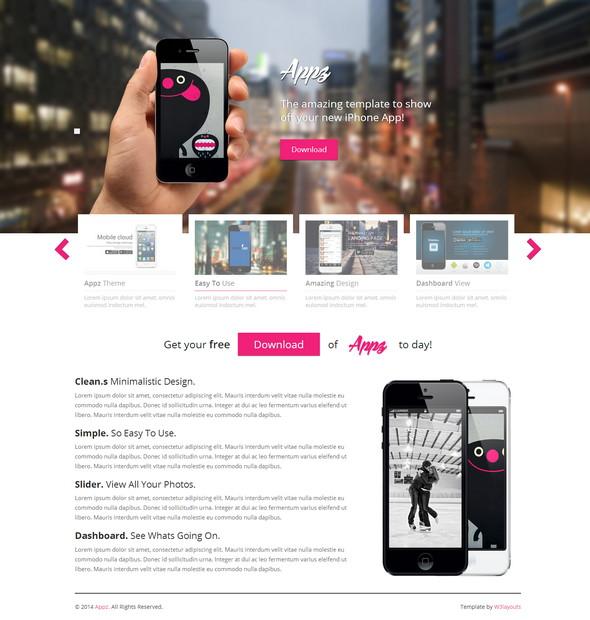 Appz - одностраничный адаптивный шаблон сайта