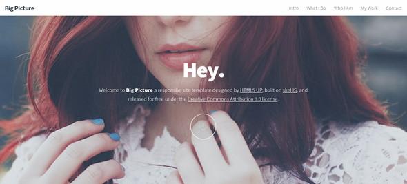 Big Picture - шаблон сайта на HTML5