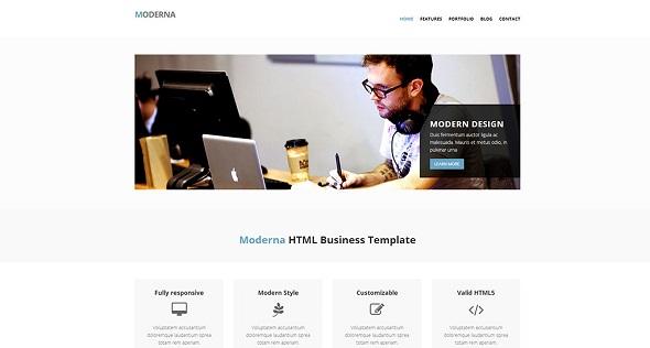 Moderna - адаптивный шаблон сайта на Bootstrap