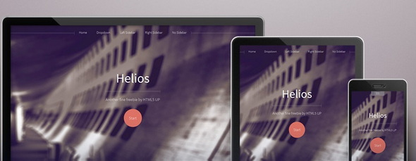 Helios - стильный шаблон сайта на HTML5