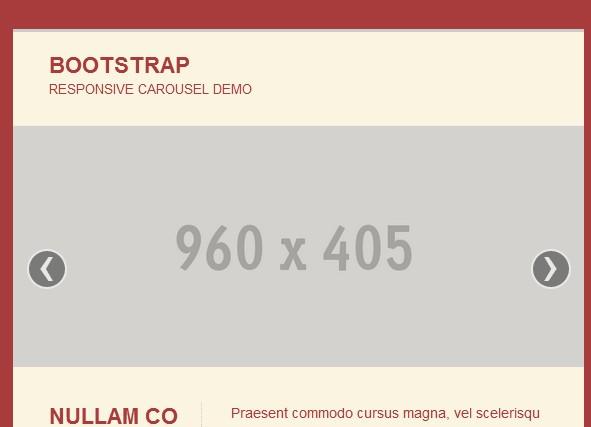 Адаптивная карусель на Bootstrap
