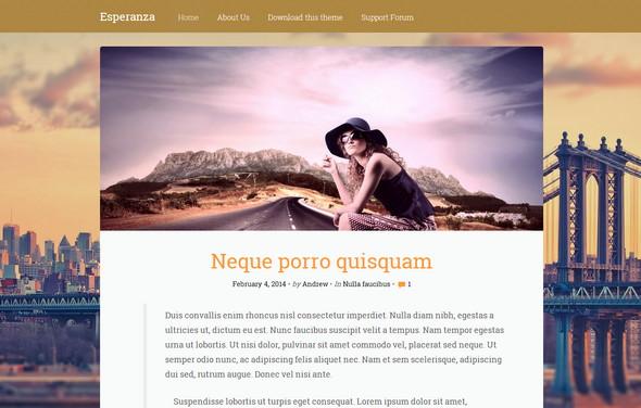 Esperanza - минималистический шаблон для блога