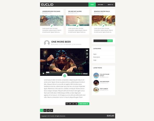 Euclid - бесплатный шаблон для WordPress