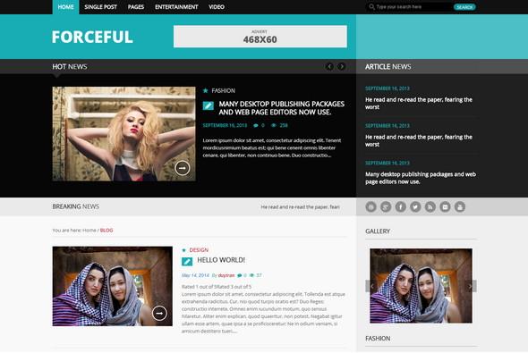 ForceFull - бесплатный шаблон для новостного блога