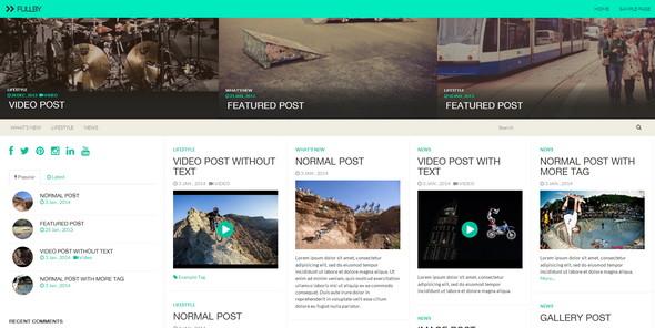 Fullby - адаптивный шаблон блога