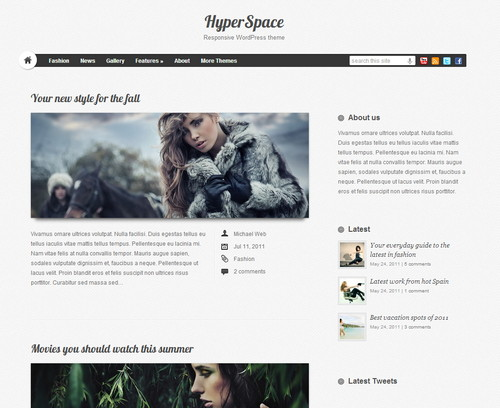 Lite Hyperspace - стильный шаблон для блога