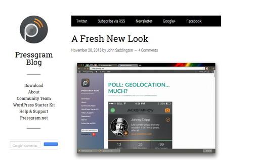 Required - минималистический шаблон для WordPress с отличной типографикой
